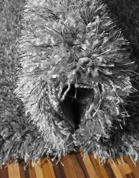 Dywan shaggy Flora szary melanż