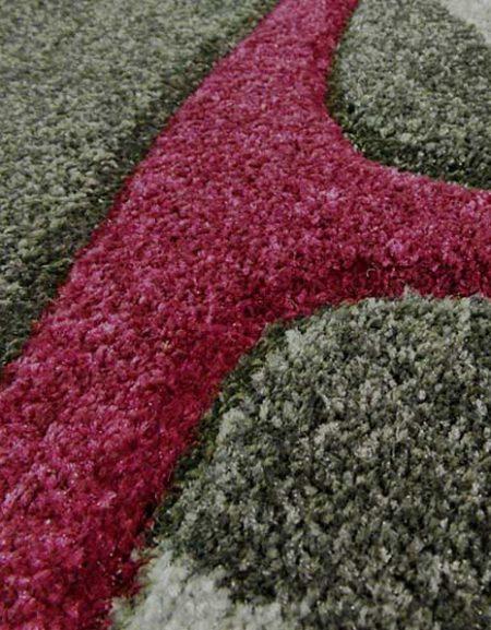 Dywan Fryz 3D wzór Błonka szaro fioletowa