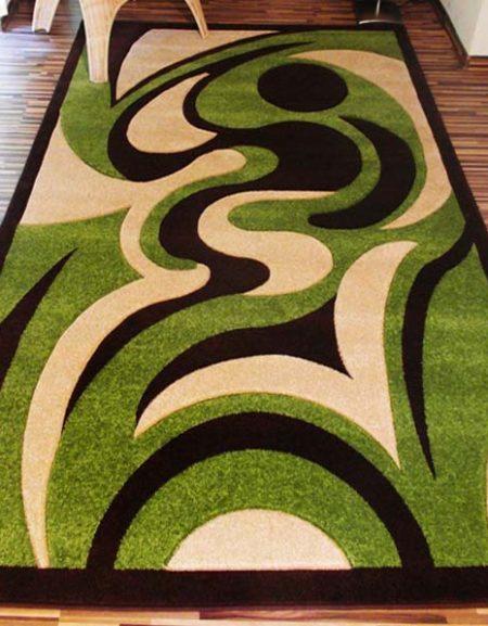 Dywan Fryz 3D wzór Plamka zielona