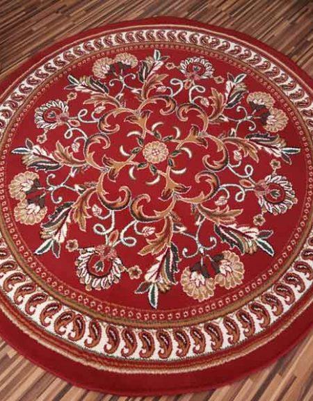 Dywan Okrągły Alfa BCF Kwiaty czerwone