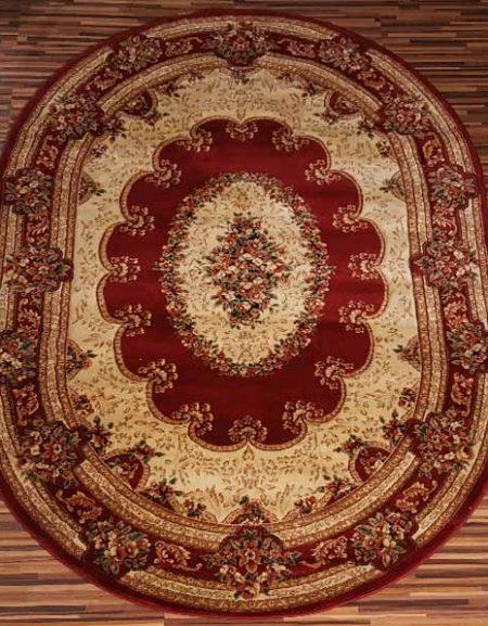 Dywan owalny tradycyjny Yesemek 5889A Red