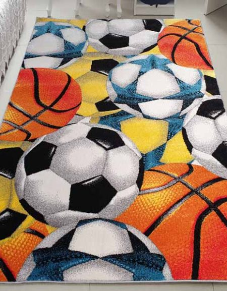 Dywan fryz Kids Piłki Sport Kolorowe