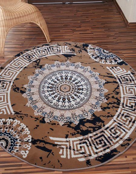 Dywan koło z kolekcji alfa BCF Grecki Beż
